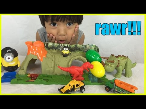 Thumbnail: DINOSAUR TOYS Matchbox Mission Dino Raiders Jurassic World Surprise Eggs Minions Ryan ToyReview