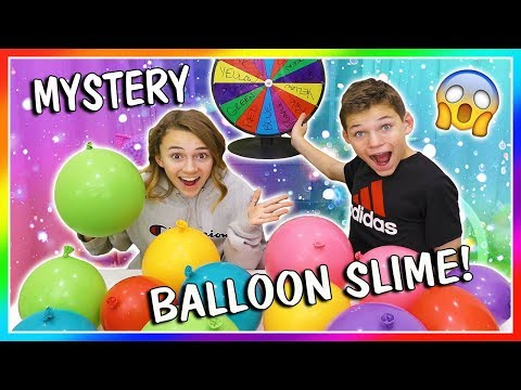 MYSTERY BALLOON SLIME MAKING CHALLENGE! | We Are The Davises