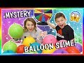 MYSTERY BALLOON SLIME MAKING CHALLENGE!   We Are The Davises