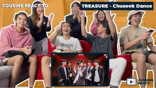 Cousins React To Treasure Special Dance Challenge Hits Compilation Chuseok Ver