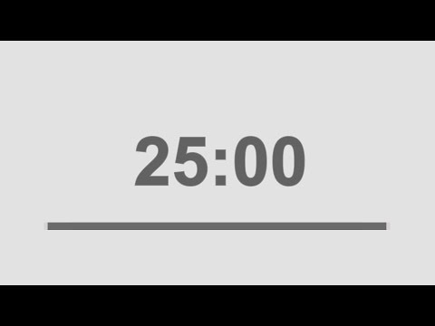25 minutes countdown timer with alarm