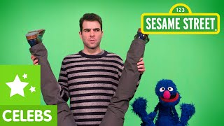 Sesame Street: Grover And Zachary Quinto Are Flexible