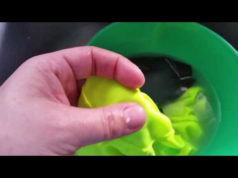 Removing slime from clothes