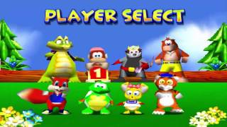 Haciendo Carreras De Autos Con Animales - Diddy Kong Racing | Carlos95