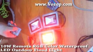 10w rgb led flood light with remote controller waterproof led floodlights