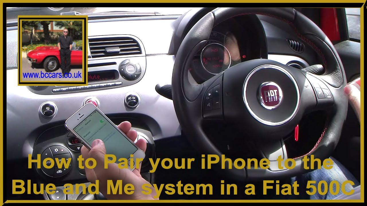 how to pair your iphone to the blue and me system in a fiat 500c 1 2 s 2dr start stop youtube. Black Bedroom Furniture Sets. Home Design Ideas