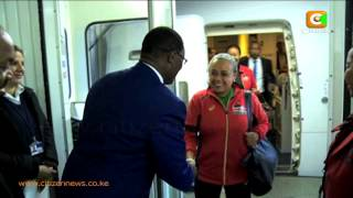 First Lady Mrs. Kenyatta Arrives In London