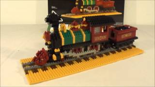 Giveaway And Review: Steam Locomotive 4-4-0 Building Block Set And Model