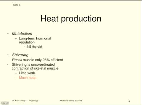 MedSci - Thermoregulation - Lecture 1