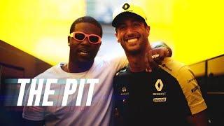 ASAP Ferg Pops Champagne With Daniel Ricciardo in the Winner's Circle   The Pit