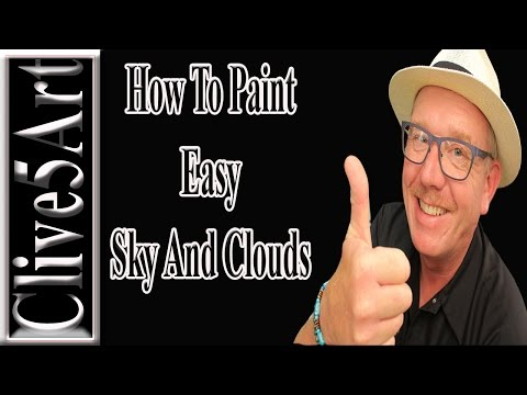 Easy & Simple Clouds, Acrylic painting for beginners,#clive5art