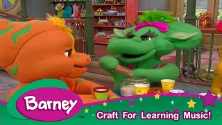 Barney| Music Shakers CRAFT|Music Learning For Kids