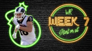 2019 Fantasy Football - Week 7 Wide Receiver Start or Sit