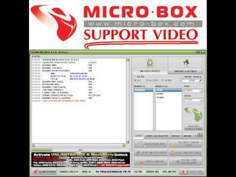 SAMSUNG S8300 READ UNLOCK CODES BY MICROBOX