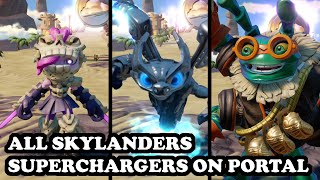 Skylanders Superchargers - All Skylanders Superchargers & All Vehicles on Portal GAMEPLAY