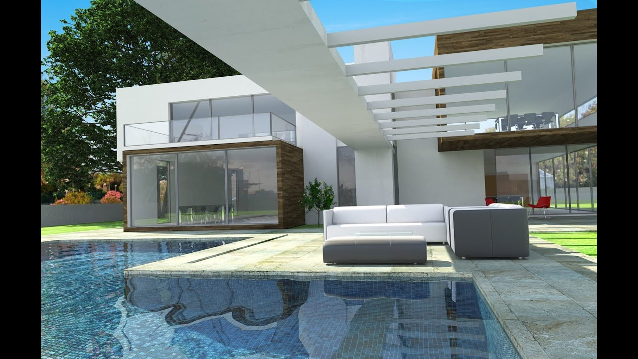 Beautiful modern homes youtube for Contemporary homes images