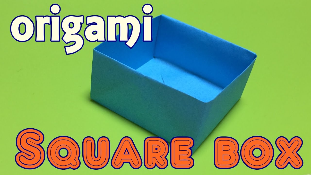 How To Make Paper Square Box