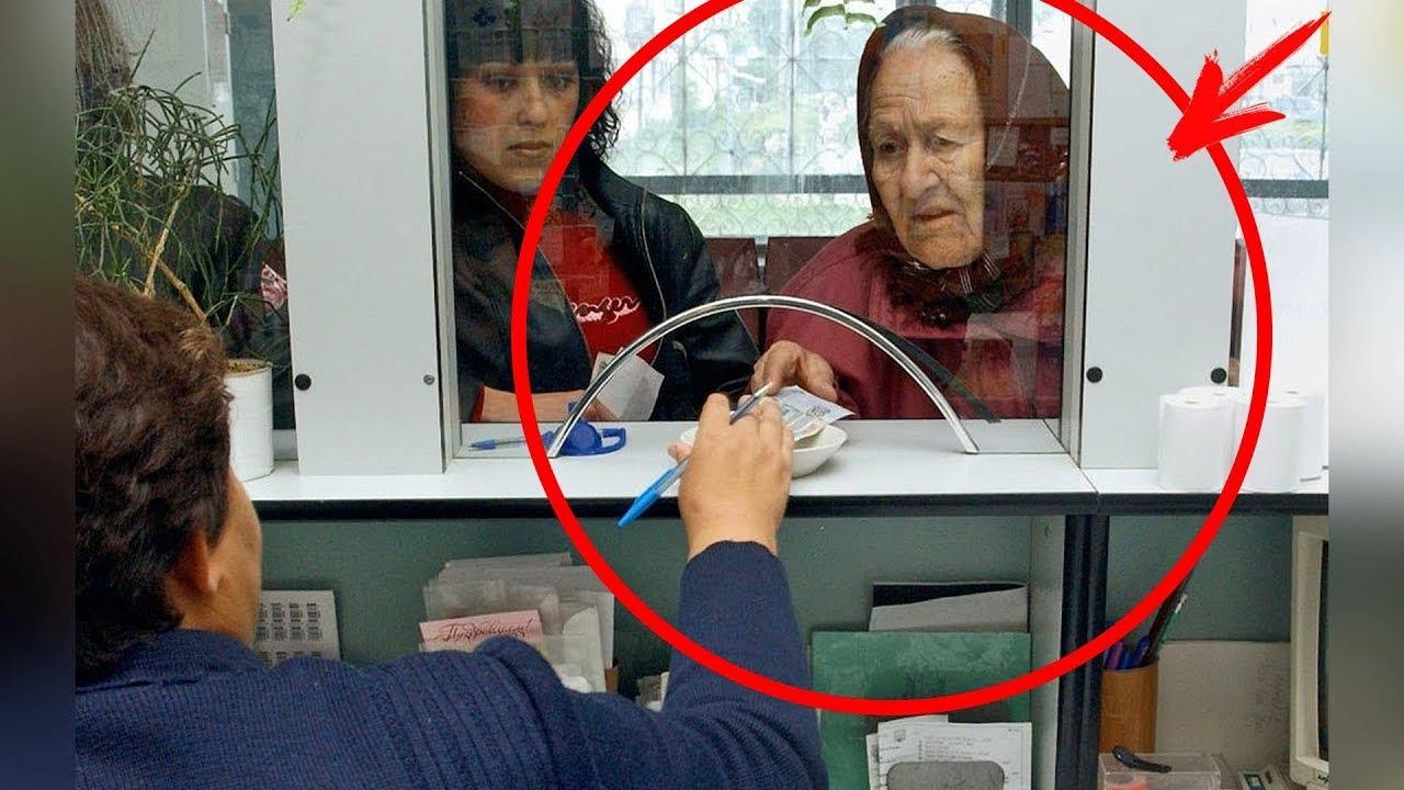 Casierul a trimis bătrânica la bancomat, dar după răspunsul ei toată sala o aplauda!