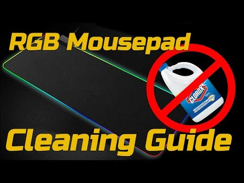 How To Clean an RGB Mousepad