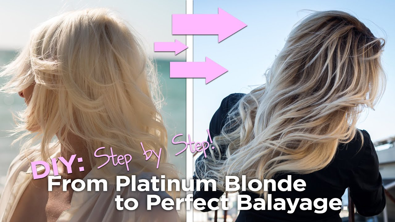 DIY , from Blonde to the Perfect Balayage , Easy to Follow At Home Tutorial , YouTube