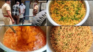Tomato rice for 100 people | தக்காளி சாதம் | contact vedic ravi 9840787957
