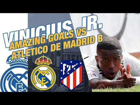 VINICIUS JR. amazing goals VS Atletico de Madrid B