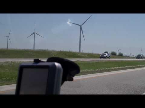 Windmills In Indiana On I-65 - Benton County