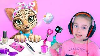 САЛОН КРАСОТЫ для ЖИВОТНЫХ Развлекательное видео для детей Игра для детей Кошачий салон