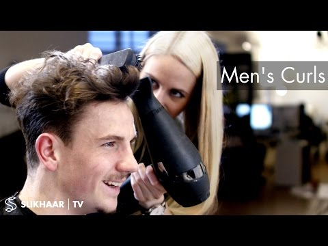 Hairstyle trends 2016 ★ Men's Curly Top ★ Hairdresser / Barber skills