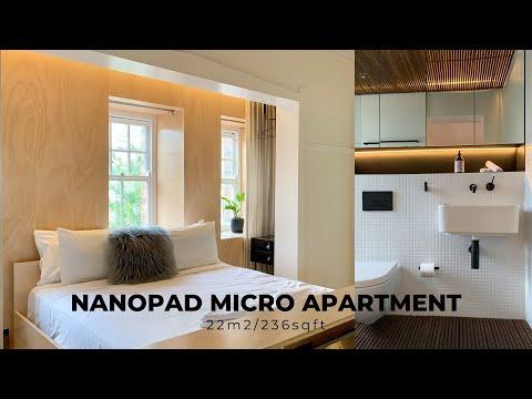 22m2/236sqft Micro Apartment Tour | Sydney  (Pied-à-terre In A 1920s Art Deco Building)