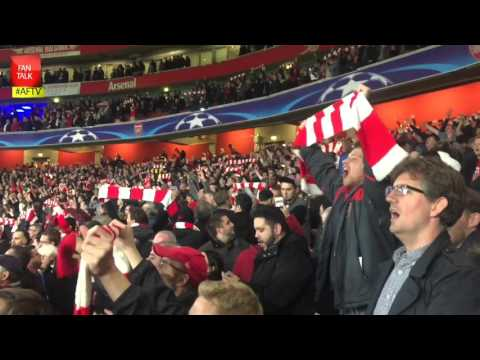 Incredible Atmosphere at The Emirates as Arsenal Tame Bayern Munich