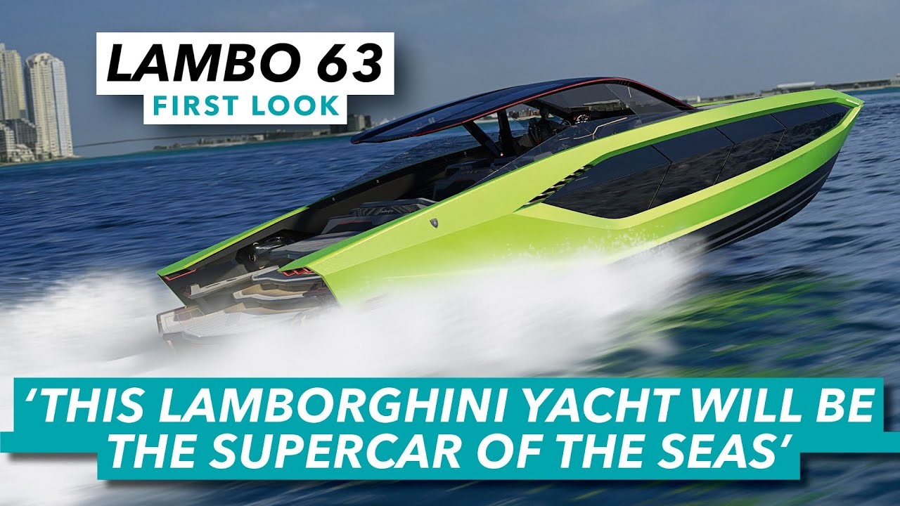 Outrageous Lambo yacht is a seagoing supercar | Lamborghini 63 first look | Motor Boat & Yachting