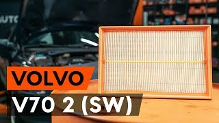 How to change air filter on VOLVO V70 2 (SW) [TUTORIAL AUTODOC]