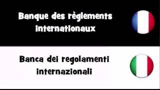 TRADUCTION EN 20 LANGUES = Banque des règlements internationaux