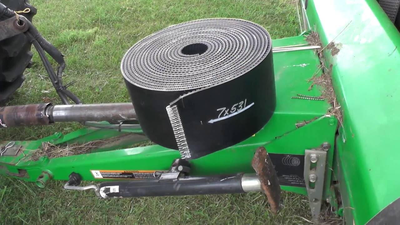 John Deere Baler Replacement Parts : Easy john deere round baler belt change replacement method
