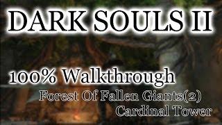 Dark Souls 2 100% Walkthrough #4 Forest Of Fallen Giants : Cardinal Tower (All Items)