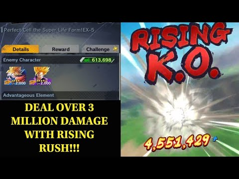 Over 3 Million Damage With Rising Rush In Perfect Cell The Super Life Form EX 5! Dragon Ball Legends