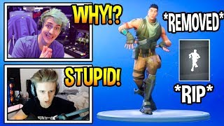 Streamers React To DEFAULT DANCE *REMOVED* From Fortnite! *RIP* Fortnite FUNNY & EPIC Moments