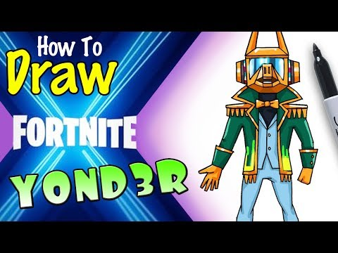 How to Draw Yond3r | Fortnite X