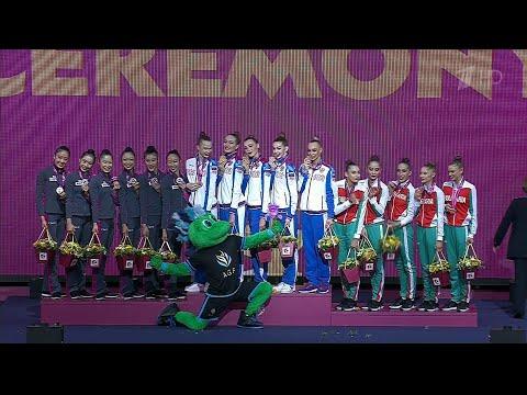Выдающийся результат показала сборная России на Чемпионате мира по художественной гимнастике в Баку.