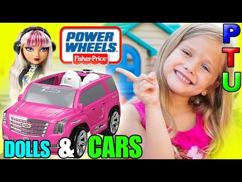 Power Wheels BARBIE ESCALADE Toy Car | Toys R Us Ride On | MELODY PIPER Doll | Fisher Price Car