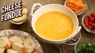 2 Ingredient Cheese Fondue Recipe - Quick & Easy Party Dip - Dip Recipe For Chips - Bhumika