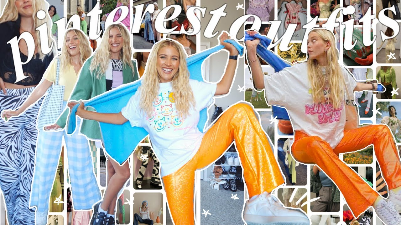 recreating ✨ trendy ✨ pinterest outfits *but with clothes I already own* + summer 2021 trends