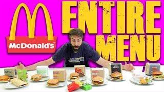 ENTIRE MCDONALD'S MENU (CHALLENGE)