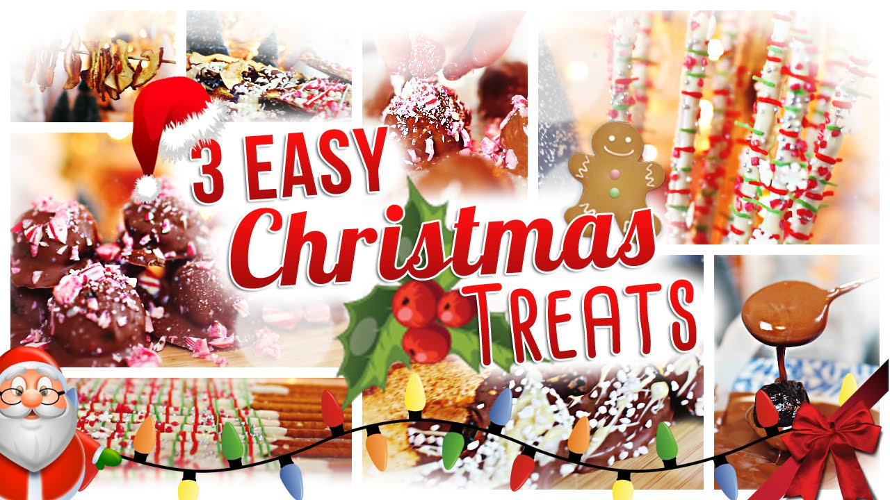 3 EASY CHRISTMAS TREATS | 24 DAYS OF CHRISTMAS | DAY 6 - YouTube
