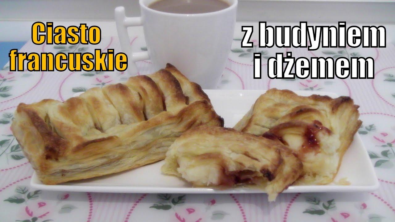 Ciasto Francuskie Z Budyniem I Dzemem Wspolpraca Z Magdalenkowe