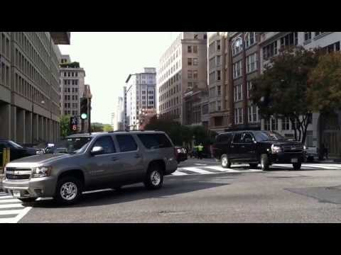 Motorcade Leaving FBI Headquarters
