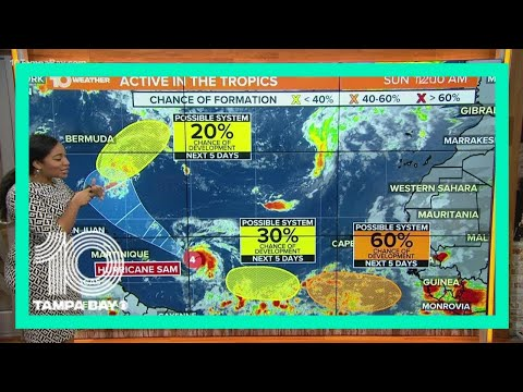 NHC: Hurricane Sam remains as a Category 4 hurricane, intensity expected to fluctuate