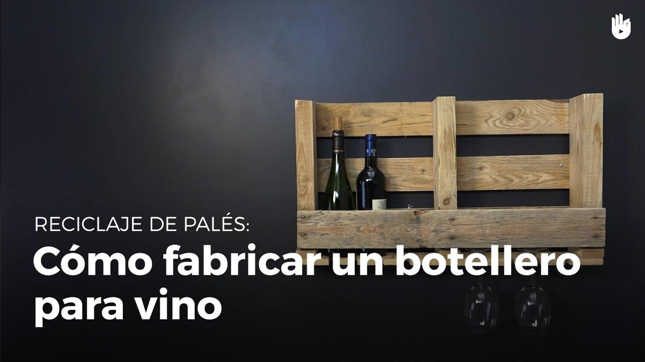 C mo fabricar un botellero para vino reciclaje de pal s - Como hacer un botellero ...