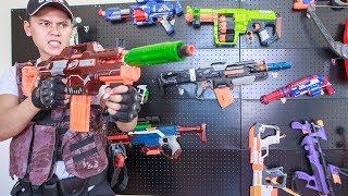 LTT Nerf War : SEAL X Warriors Nerf Guns Fight Crime Bandits Nerf Gun Accessories Mod